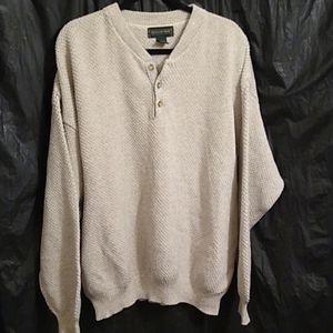 Hill & Archer pullover cream / grey swea